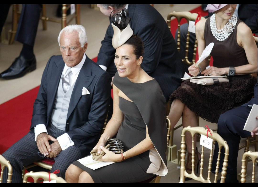 Georgio Armani's however was gray. (Photo: Associated Press)