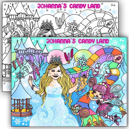 Nicole\'s party coloring pages