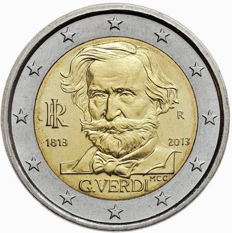 2 euro Italy 2013, Giuseppe Verdi