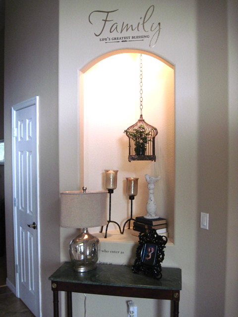 A little bit of everything alcove decorating for Alcove ideas decoration