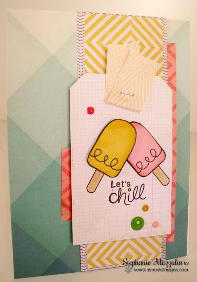 Let's Chill Card by Stephanie Muzzulin | Summer Scoops Ice Cream Stamp set by Newton's Nook Designs