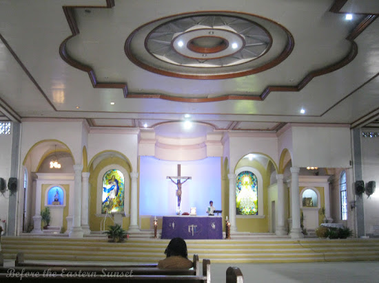 Altar of Bulan Church in Bicolandia