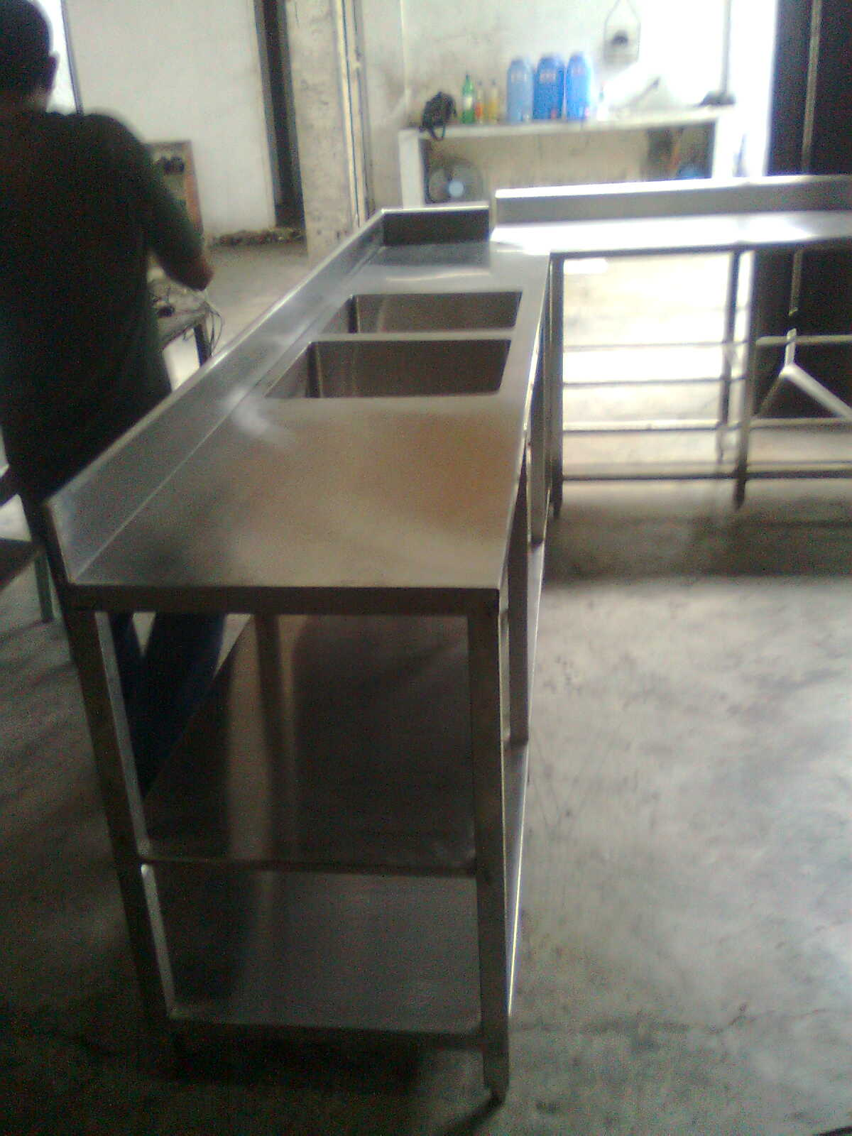 Stainless Kitchen Sink L Shaped