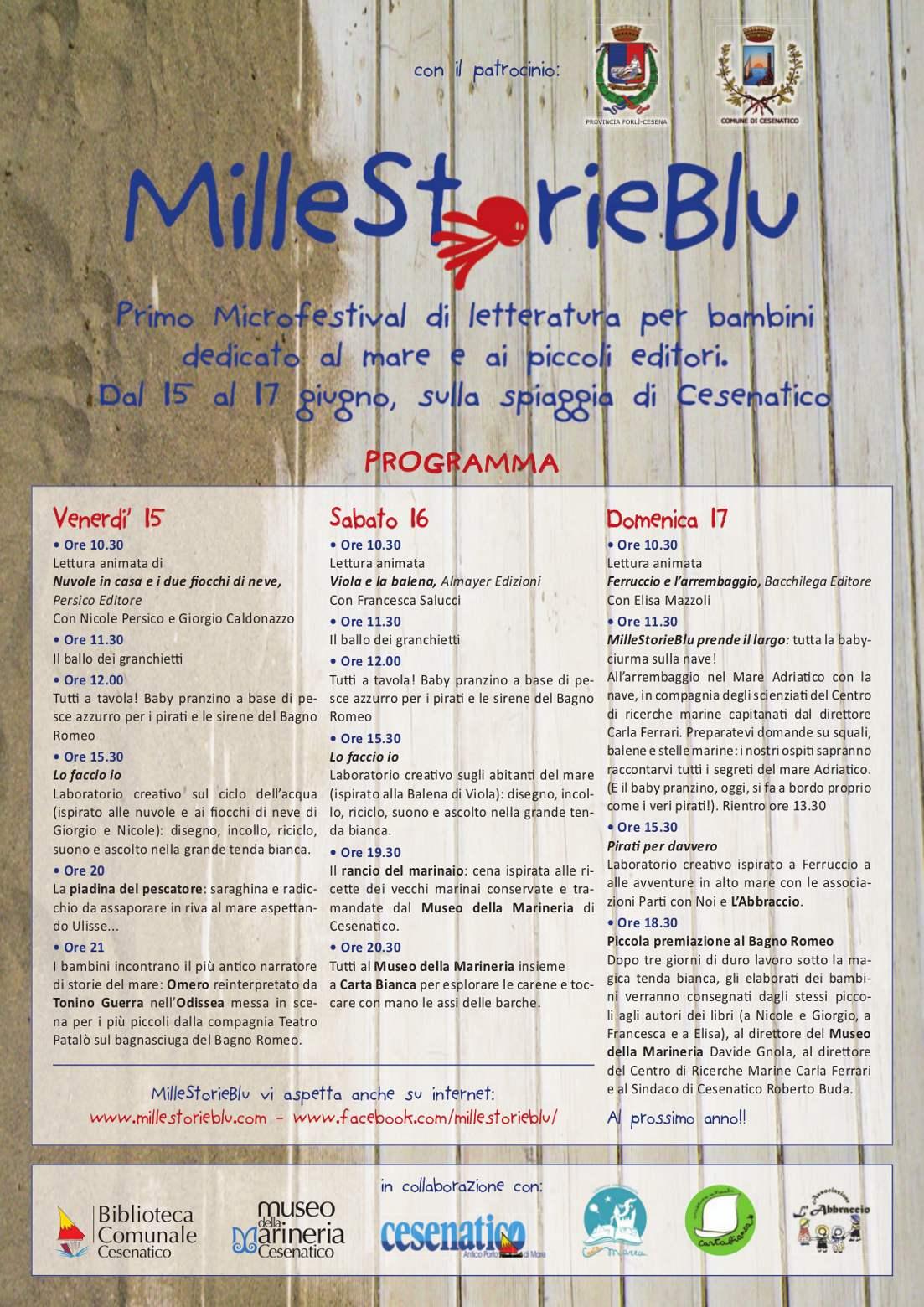 Il blog della cooperativa il mosaico mille storie blu - Bagno romeo cesenatico ...