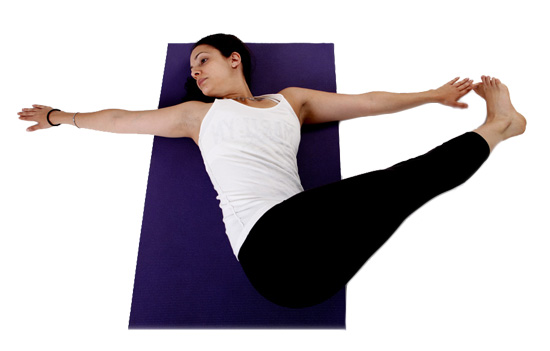 Peaks Coaching Group Yoga Bridge Straight Leg Twist