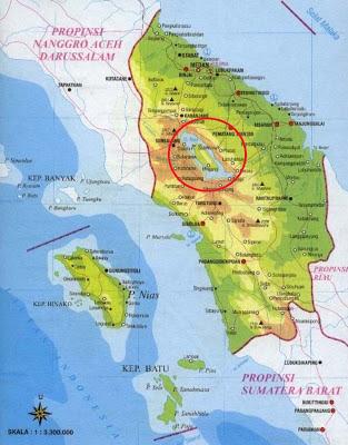 peta sumatera utara