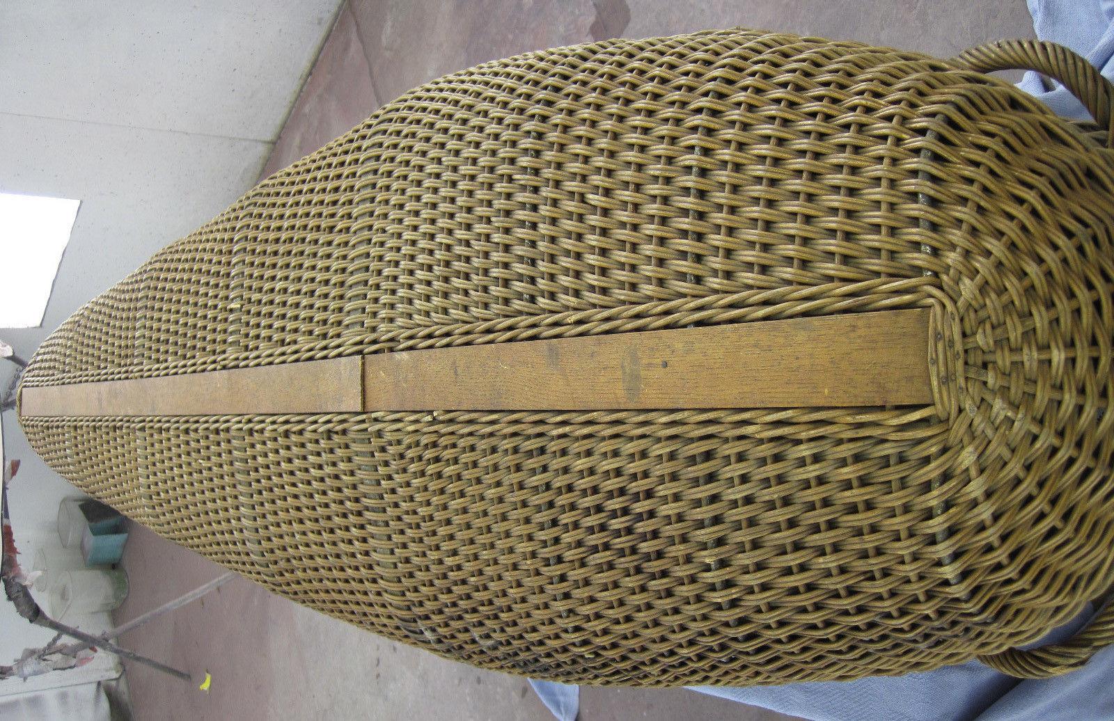 Woven Basket Casket : Halloweeniana wicker coffin casket quot cooling box th
