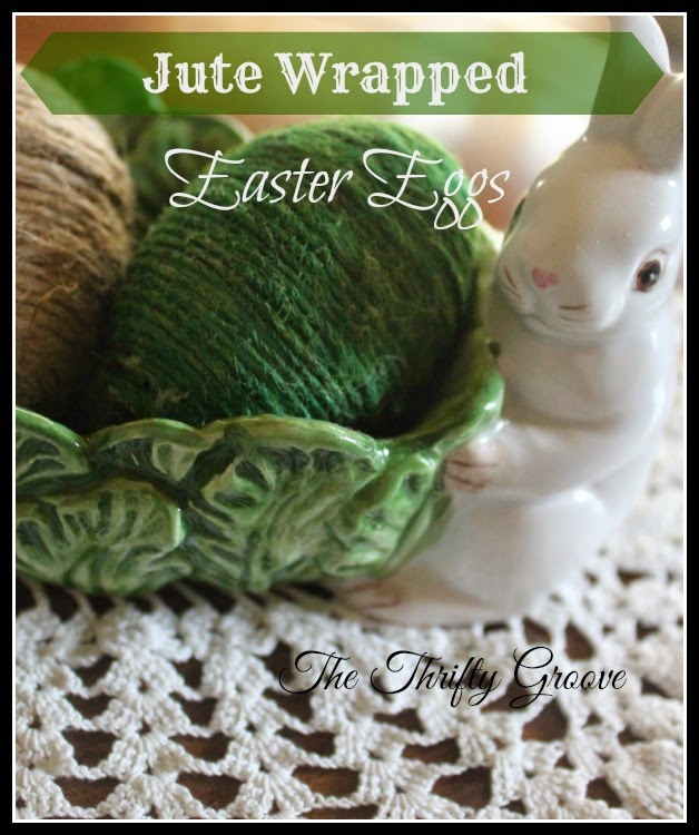 How to make Jute Wrapped Easter Eggs