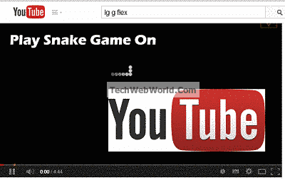 Snake Game On YouTube