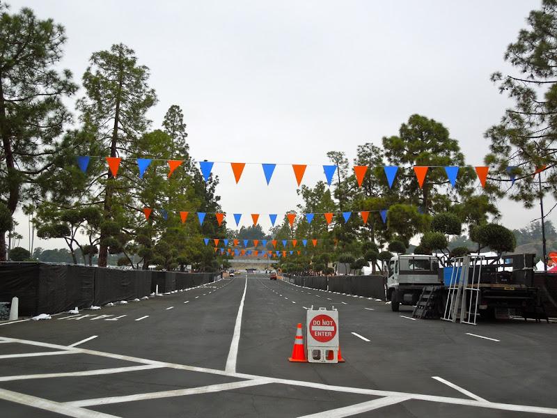 LA Marathon empty start corrals