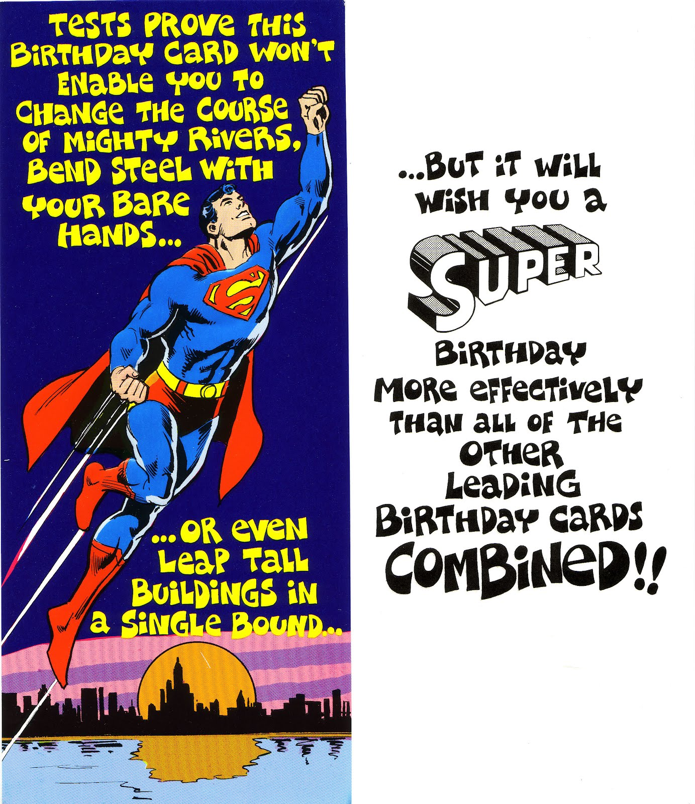 My Comic Board Banners And More!: Superman And DC Greeting ...