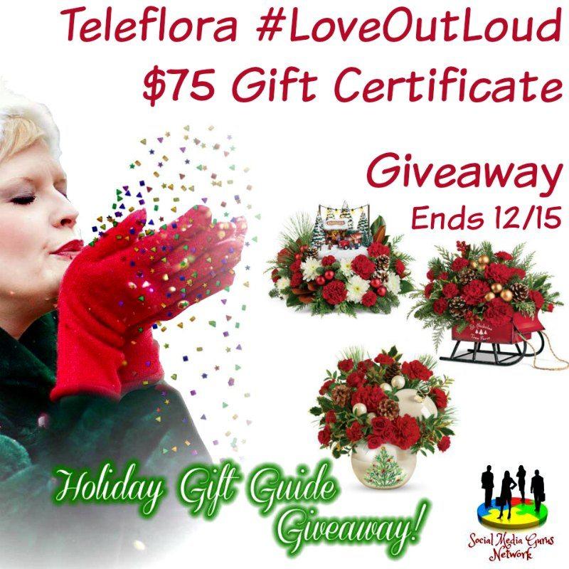 Teleflora #LoveOutLoud $75 Gift Certificate