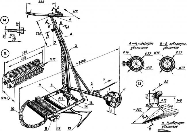 Схема электрокультиватор своими руками 68