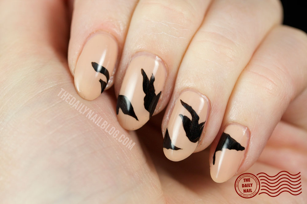 This Isn't Real nail art, divergent, birds, Tris