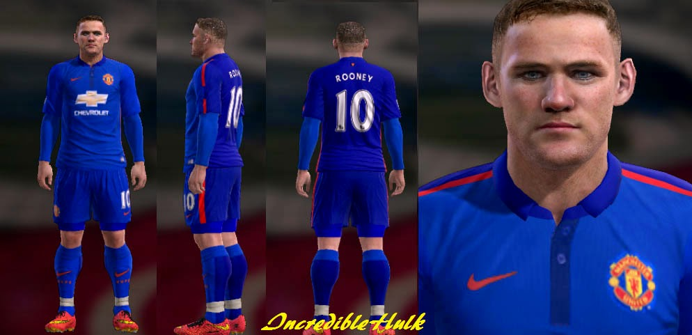 PES 2013 Manchester United Third Kit 2014/15 by incrediblehulk