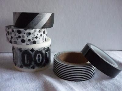 Maskingtape schwarz weiß