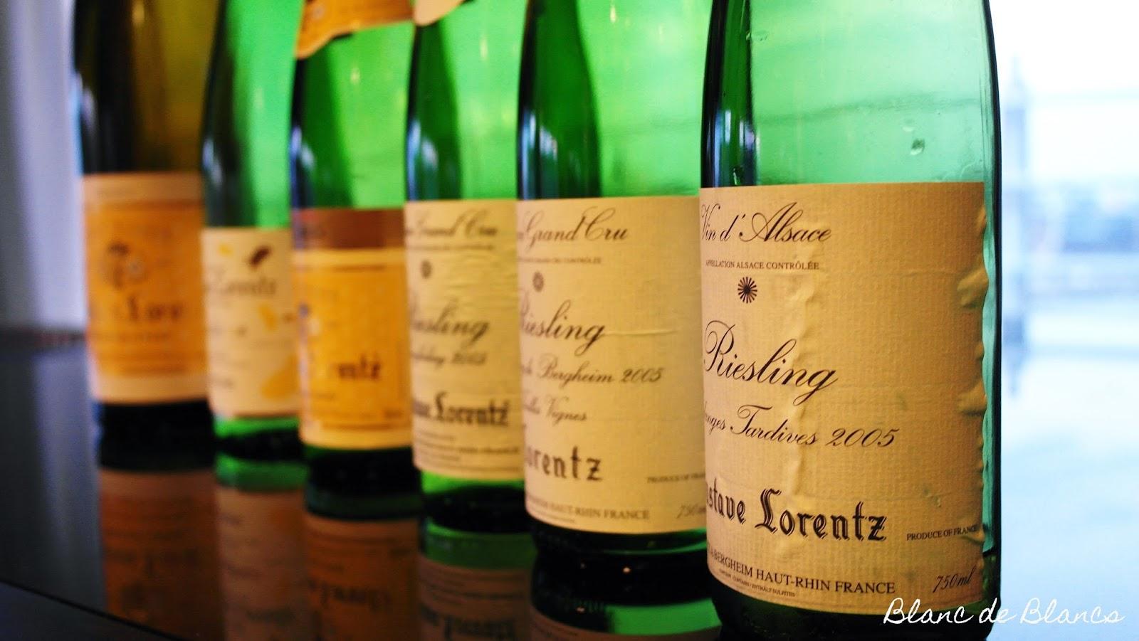 Gustave Lorentz Riesling-tasting - www.blancdeblancs.fi