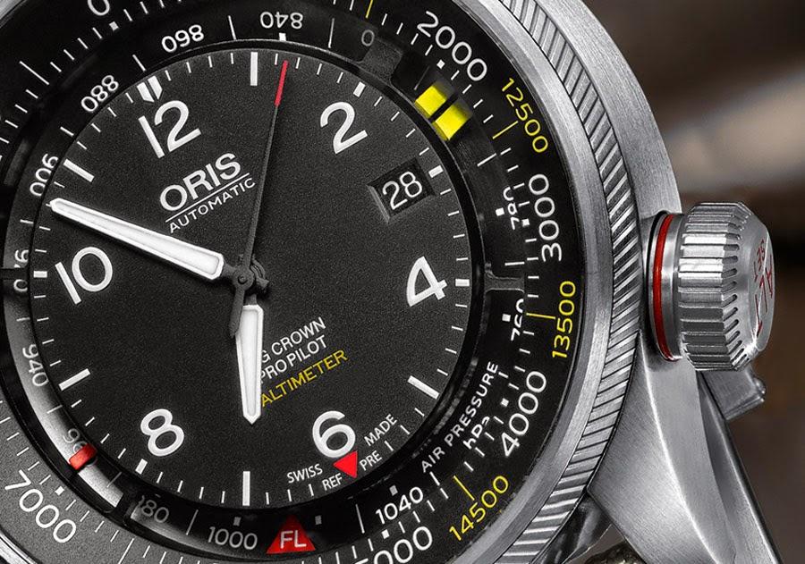 oris - Oris Big Crown ProPilot Altimètre Oris-Big-Crown-ProPilot-Altimeter-dial