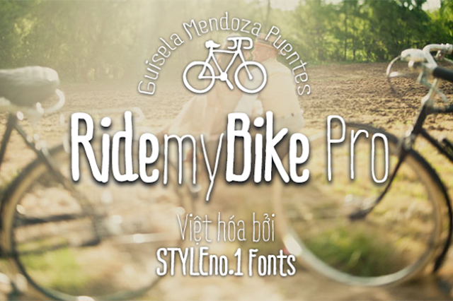 [Hand-write] Ride my Bike Việt hóa (3 fonts)