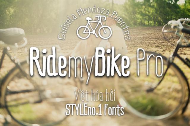 [Hand-write] Ride my Bike Việt hóa (3 fonts)