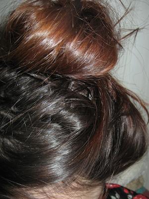 włosy jaśniejsze końce, odrosty