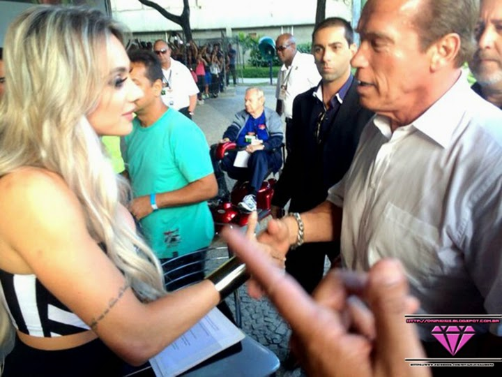 Juju Salimeni, Arnold Schwarzenegger