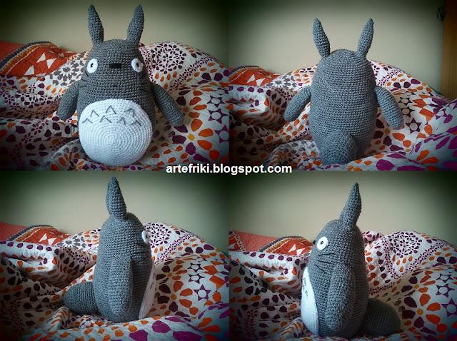 Totoro amigurumi crochet ganchillo muñeco peluche
