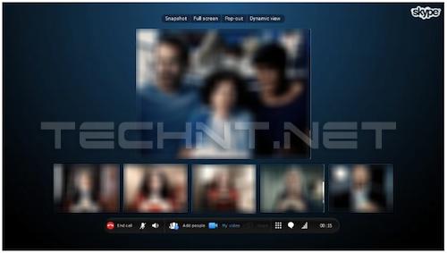 خدمة مكالمات الفيديو الجماعية في skype أصبحت مجانية التقنية نت - technt.net