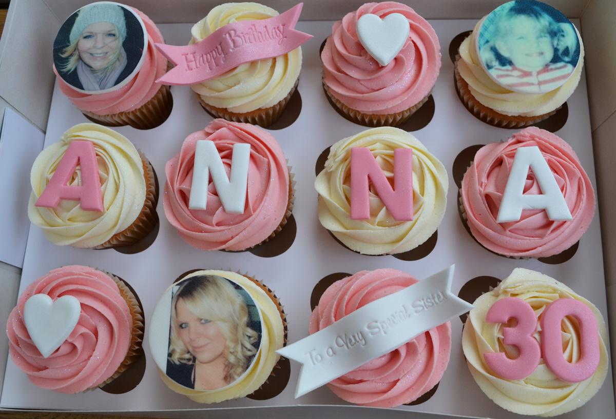 Little Paper Cakes Happy Birthday Edible Image Cupcake