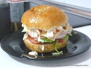 Sandwich gigante de Bagel