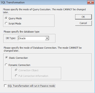 informatica sql transformation in query mode