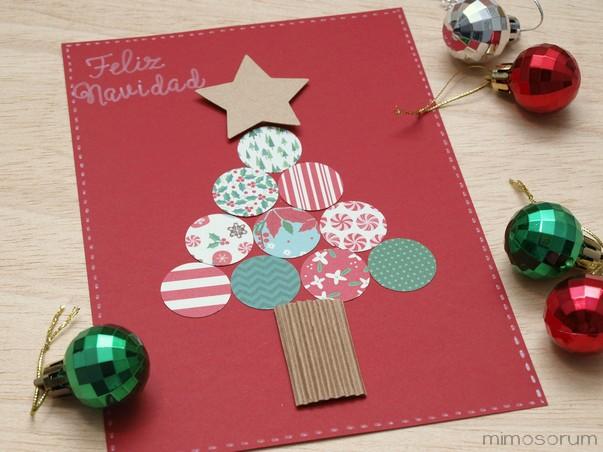 Tarjeta de Navidad con Troqueles.