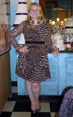 Purple Animal Print Dress