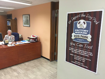 New Dog Park Poster in City Hall
