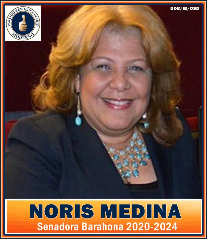 NORIS MEDINA, SENADORA PRM PROVINCIA BARAHONA 2020-2024