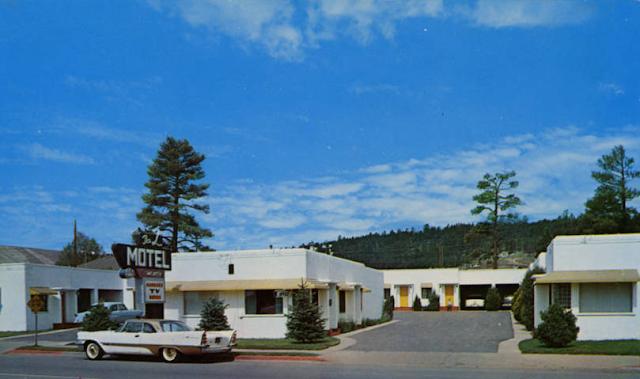 L Motel postcard