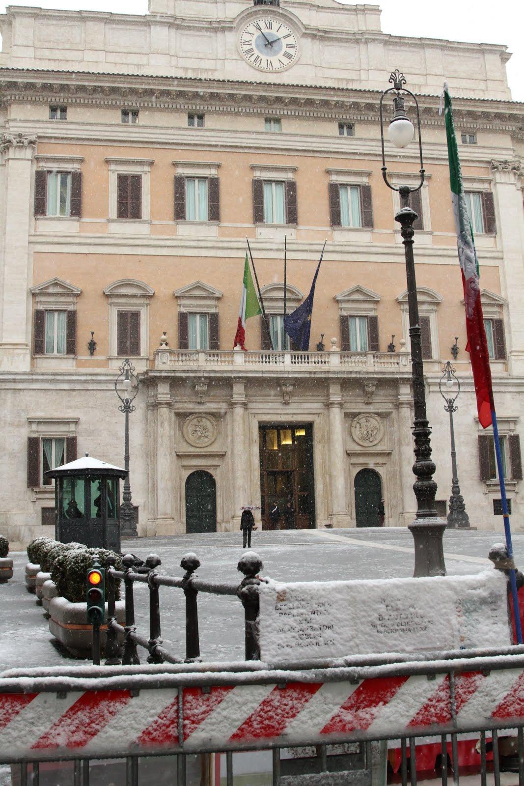 Neve a roma for Sede camera deputati