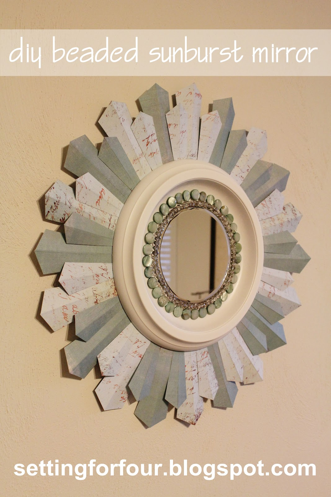DIY Beaded Sunburst Mirror Guest Post from