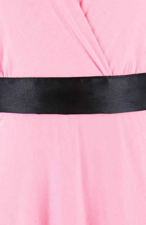 Marilyn Flare Halter Dress in Glowing Pink