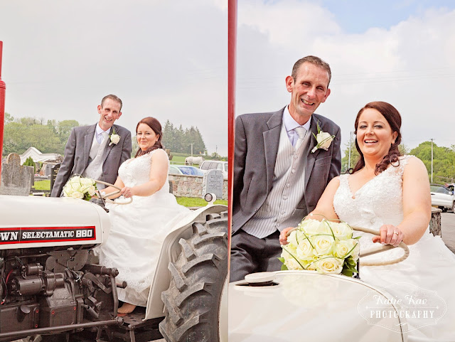 tractor wedding photography