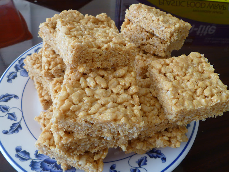 what I made today. I made Rice Krispie Treats. These Rice Krispies ...