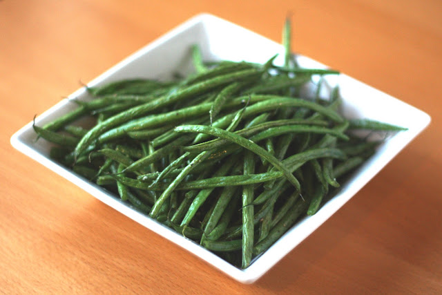 Roasted Green Beans recipe by Barefeet In The Kitchen