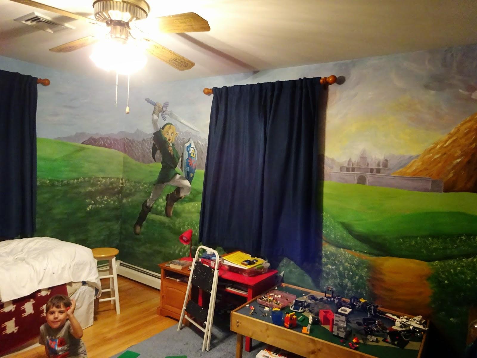 Legend of zelda room wallpaper bedroom review design for Decoration chambre zelda