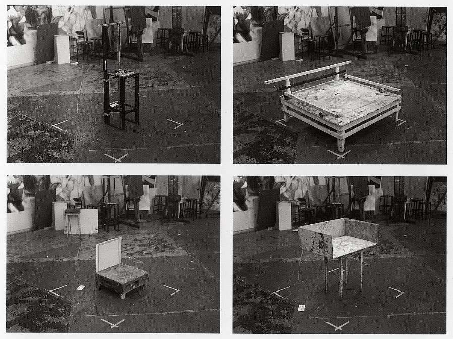 Robert Cumming, Makeshift Art School Furniture Chairs, 1976