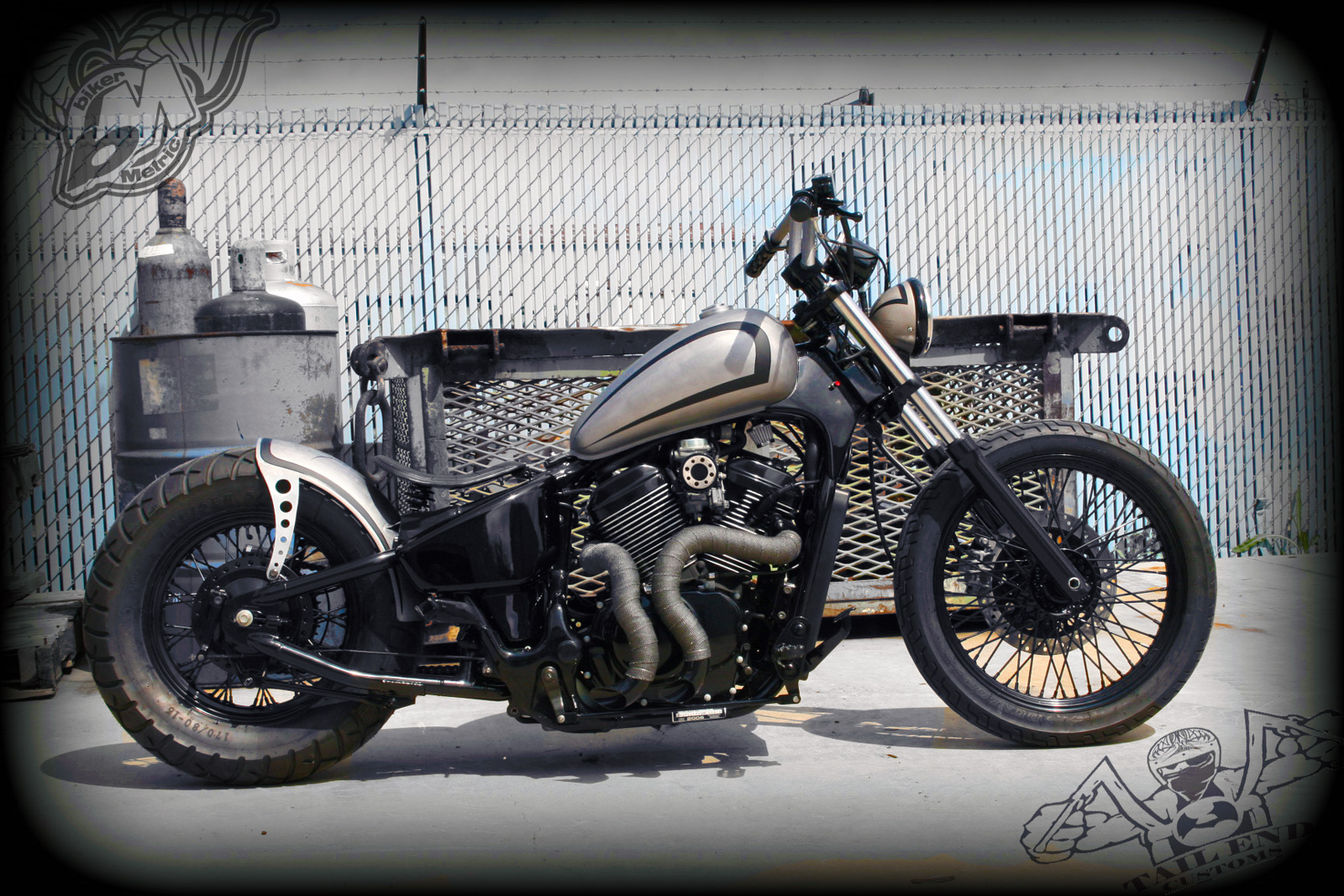 Joey S Vlx600 Bobber Tail End Customs Bikermetric