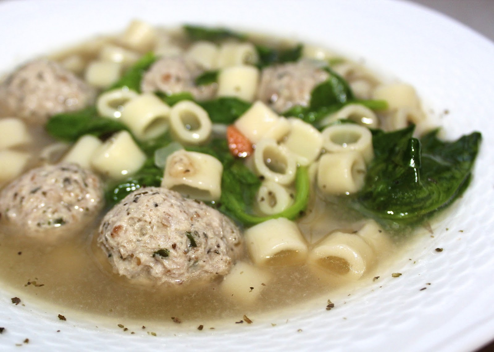 Saturday Lunch - Turkey Meatball and Spinach Soup