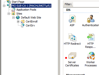 My tech blog pki public key infrastructure with adcs part 9 web in the right pane not shown above see below we select create certificate request yelopaper Images