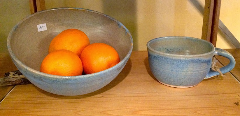 Handcrafted soup mug and serving bowl by Lori Buff