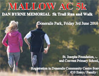 5k in Doneraile Park organised by Mallow AC...Fri 3rd June