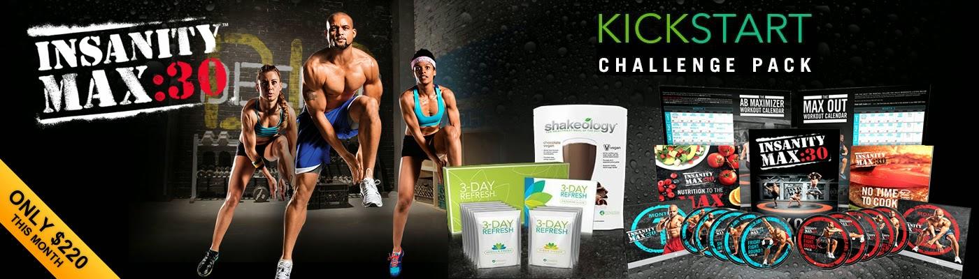 insanity max 30, 3 day refresh, kickstart, Jaime messina, Shaun T, Cleanse, Fitness